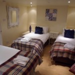 Lower ground floor bedroom sleeps 3