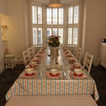 Dining room ready for dinner